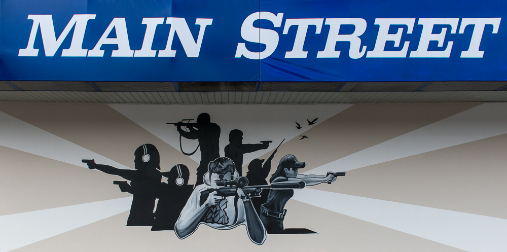 Mainstreet Guns & Range Sign
